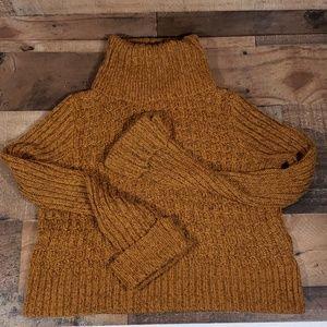 Free People Crop Turtleneck Sweater  S